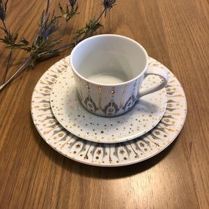 Spal Portugal Cup and Saucer with a Dessert Plate